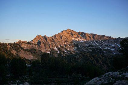 Sunset on Lake Peak.