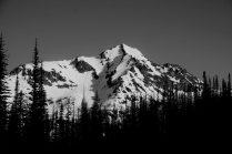 Saska Peak in the early morning.