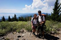 Above the north shore of Tahoe.