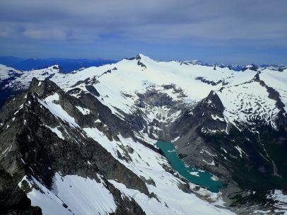 Eldorado and Moraine Lake 4000 ft below.