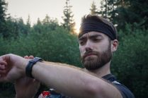Daniel checking his watch.