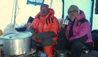 dorje sherpa and chedda sherpa chilling out at abc small