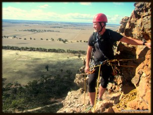 Alan Silva enjoys the view from another great belay spot