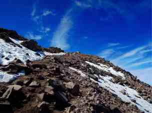Kurz vor dem Gipfel über 4.000m