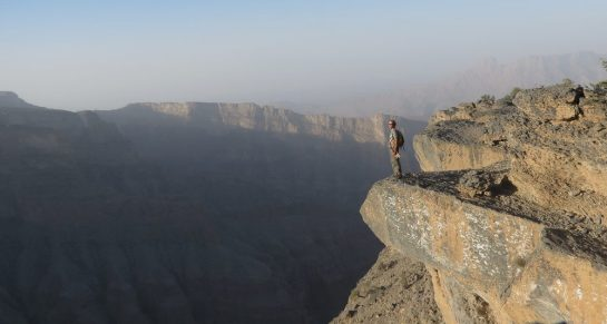 au bord du grand canyon