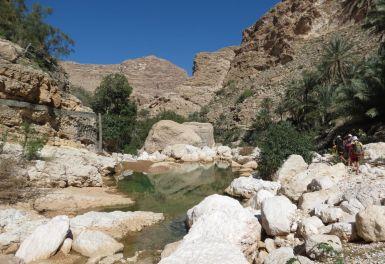 12. départ dans le lit du wadi