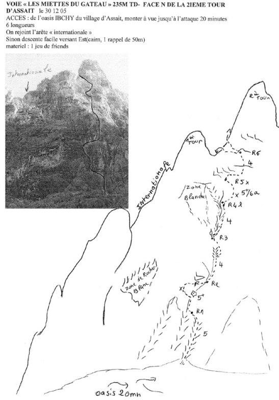 Topo de la voie (R.Thivel)