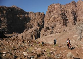 Dans le wadi Raqi pour rejoindre wadi Tibn