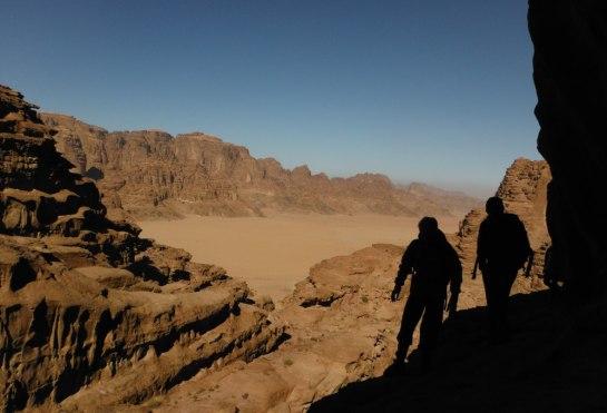 Rakat Canyon, Jebel Rum en toile de fond