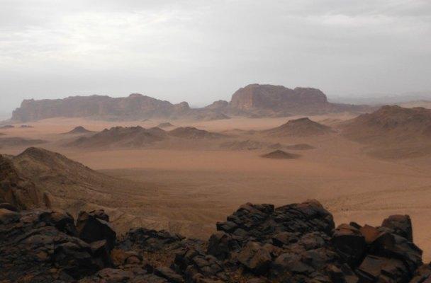 Thamudic route au Jebel Rum, Wadi Rum, Jordanie 2