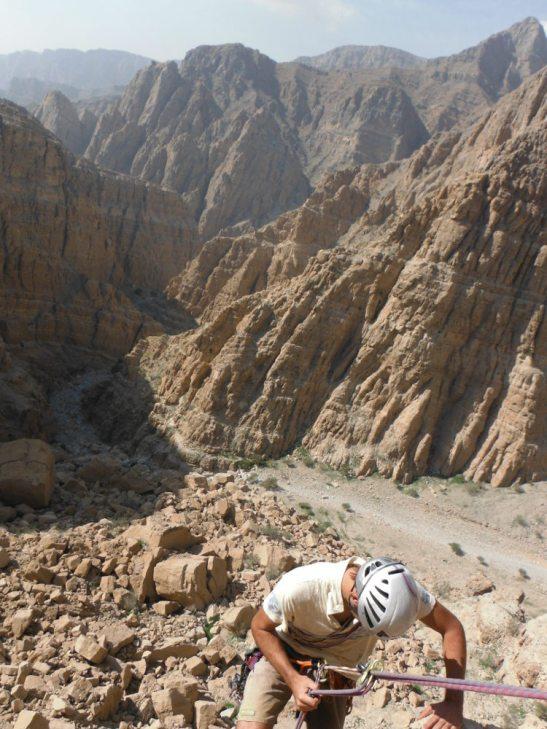 Rappel depuis R3, vue sur le wadi