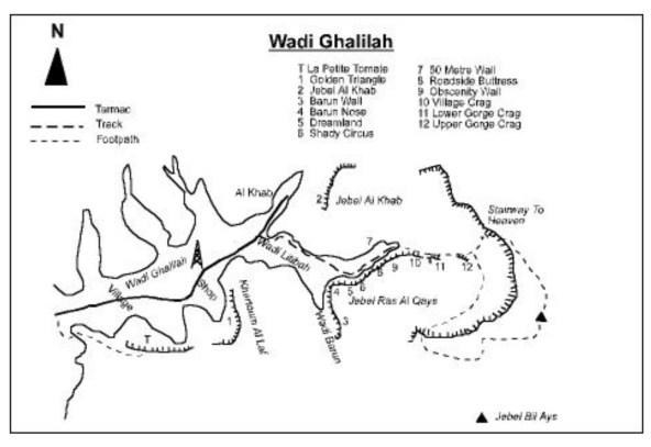 topo d'accès au wadi Litibah