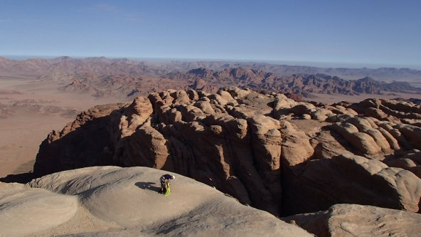 sur les dômes du Jebel Rum
