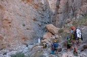 Après la cave, entrée du canyon