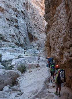 Retour dans le lit du wadi