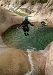 saut dans la bassine