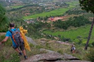 Falaise d'Ambohimanga, session de bolting au dessus des rizières 5