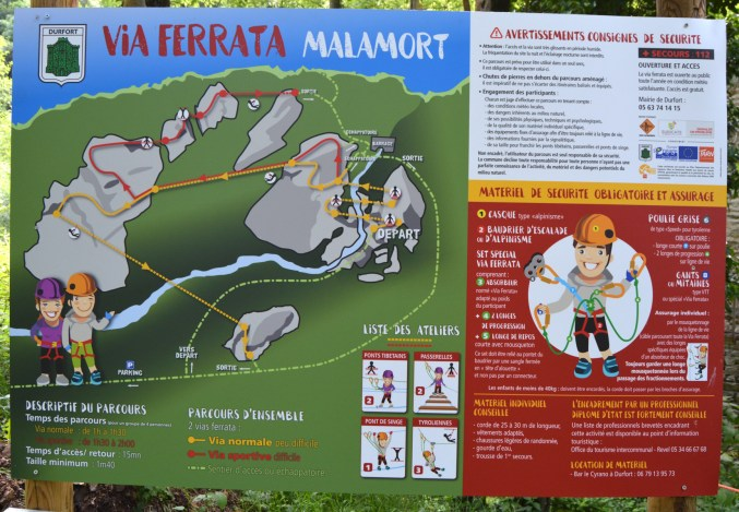 Via ferrata Malamort, Tarn 4