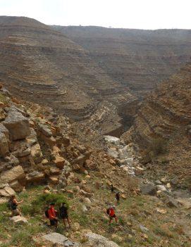 44. le canyon de sortie en vue