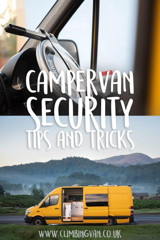 campervan security tips and tricks