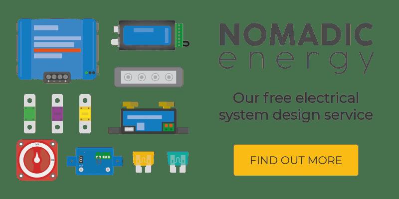 nomadic energy free campervan electrical system design service campervan electrical consultancy
