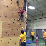 TeenFest Volunteers helping young climbers reach the top!