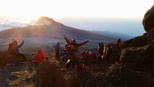Sunrise on Kilimanjaro. Pic courtesy of Brendan Hynes