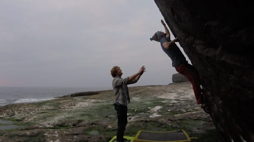 Bigfoot climbing in Doolin