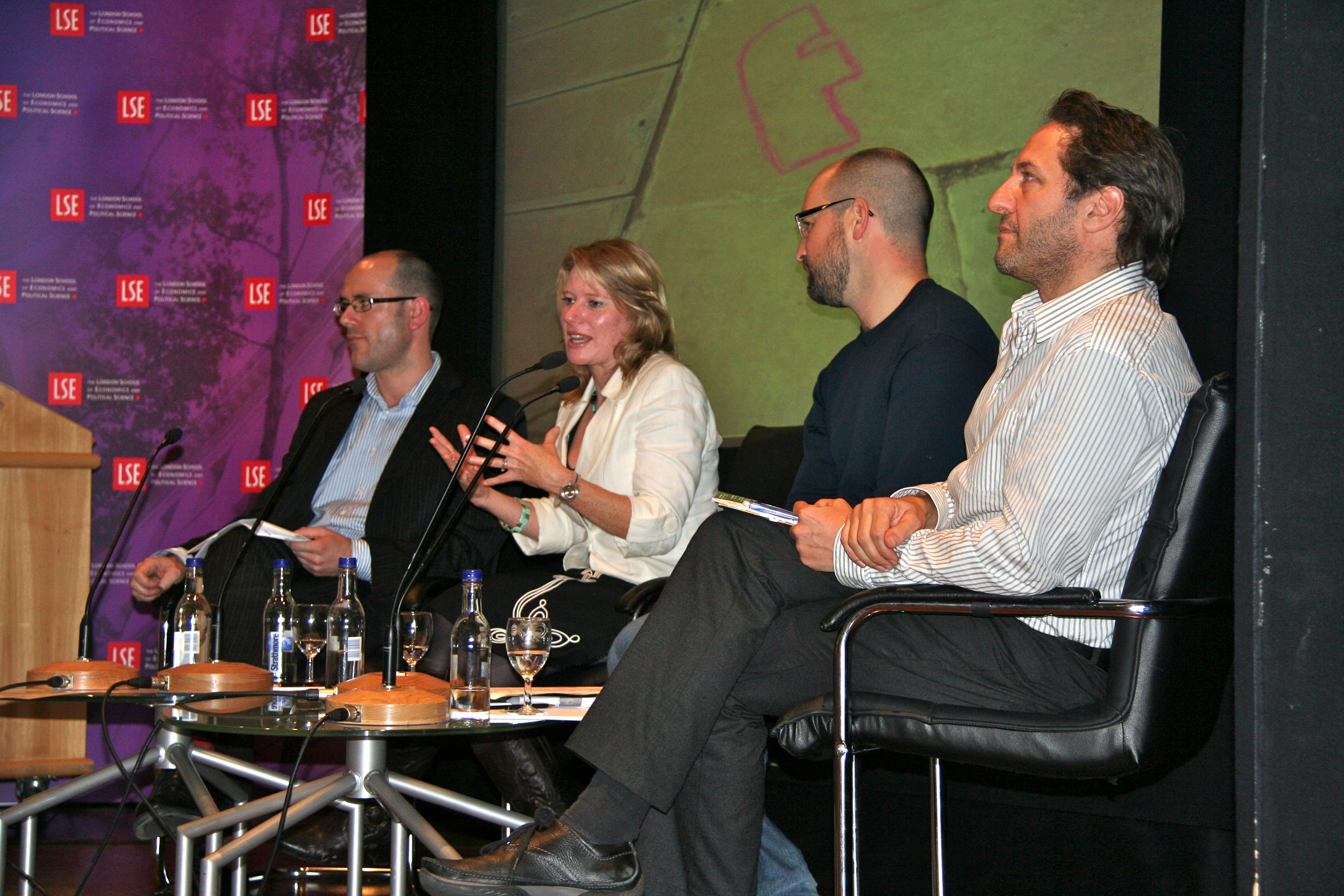 Richard, Amy, Ed and Jo on LSE panel 23 November