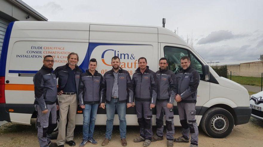 L'équipe Clim&Chauff au complet