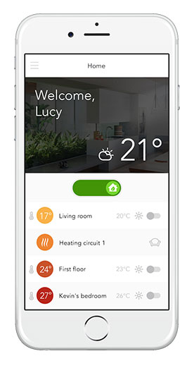Application mobile de contrôle d'un climatiseur réversible