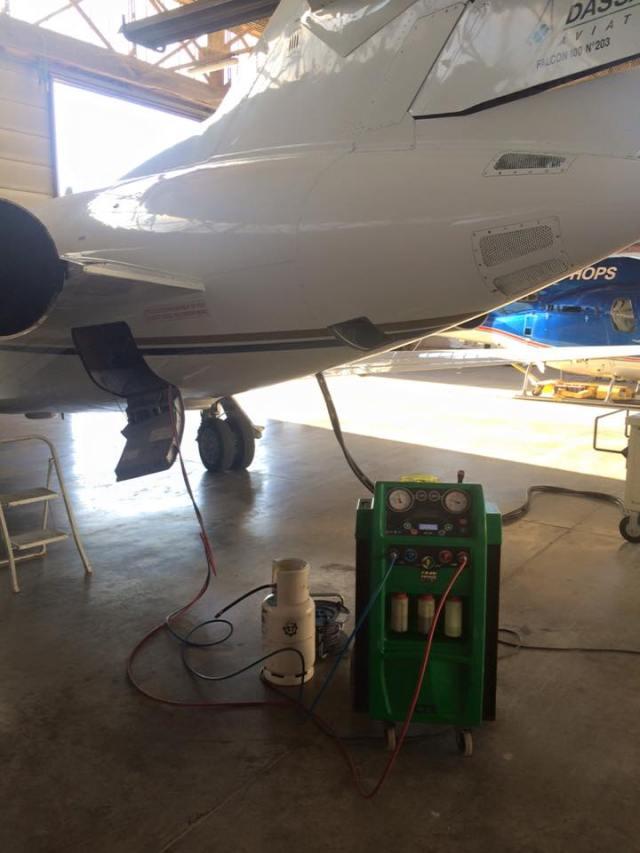 Entretien climatisation d'un avion