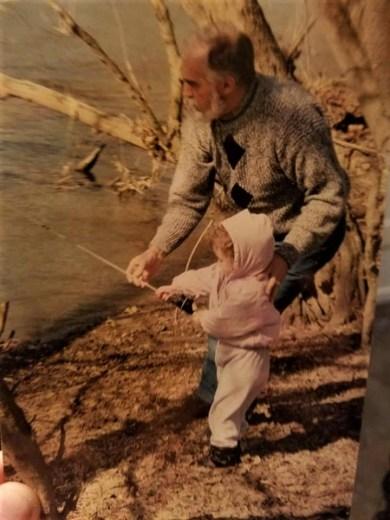 Ronnie Gordon and Maddie Gordon fishing