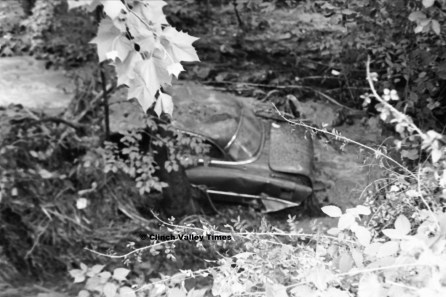 July 1, 1971 (15) Junk Car In Robinette Branch, Hardy Hollow