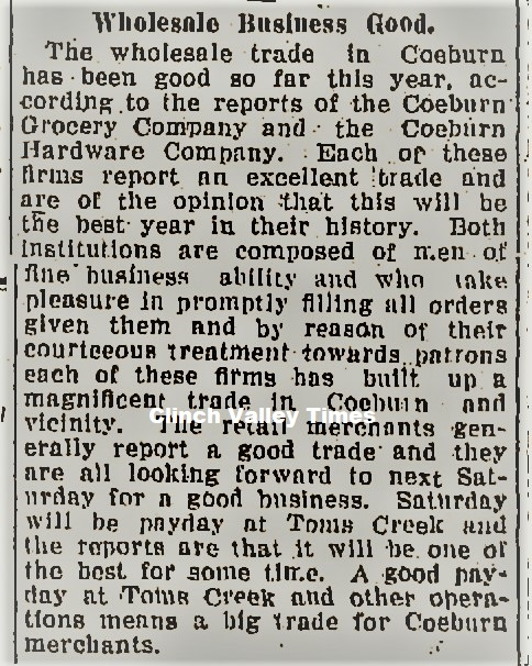 Bluefield Daily Telegraph, March 10, 1922
