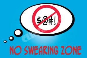 No-swearing-zone