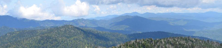 View of Smoky Mountains from Clingmans Dome
