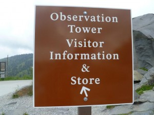 Clingmans Dome Address sign