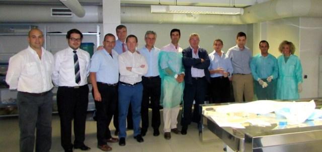 PROFESORES DISECCION HOMBRO CADAVER V CURSO INSTRUCCION HOMBRO Y CODO GRANADA OCT 2014.