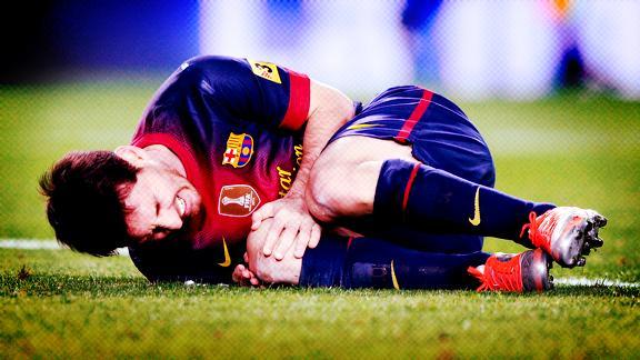 la lesion de Messi rodilla
