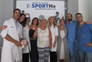 La gratitud del paciente con nuestro equipo SportMe Medical Center.