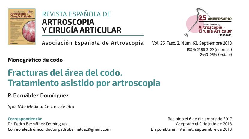 Nueva publicación cientifica del Dr Bernáldez. Revista Española de Artroscopia
