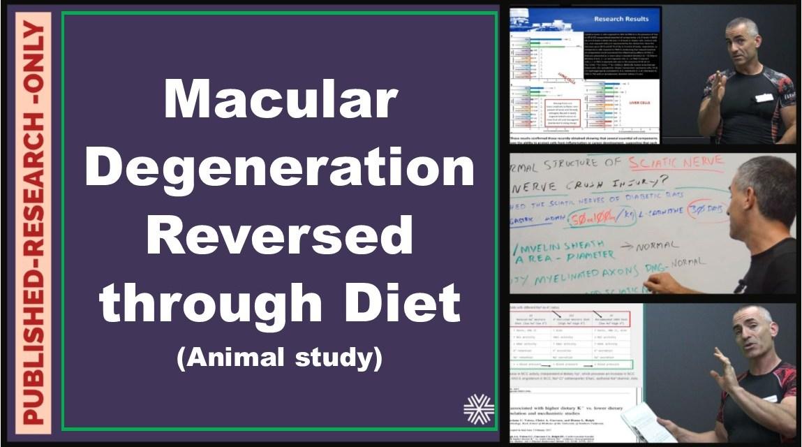 Macular Degeneration reversed through diet ( Animal Study)