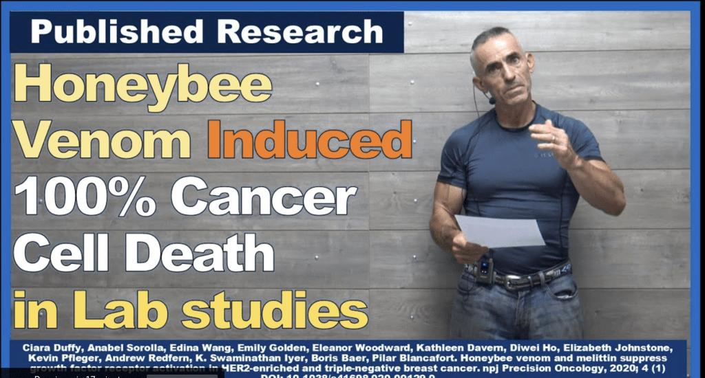 Honeybee Venom Induced 100% Cancer Cell Death in Lab studies