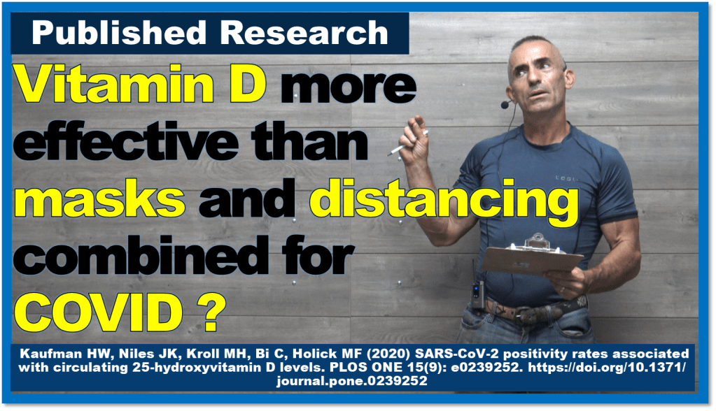 Vitamin D may be more effective than masks and distancing combined for COVID ?