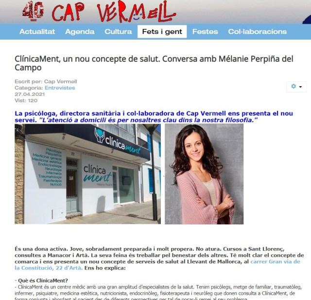 Entrevista a Mélanie Perpiñá en CapVermell