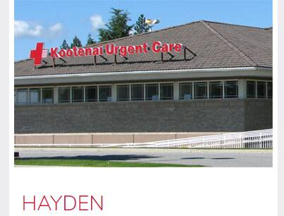 Kootenai urgent care Coeur Hayden