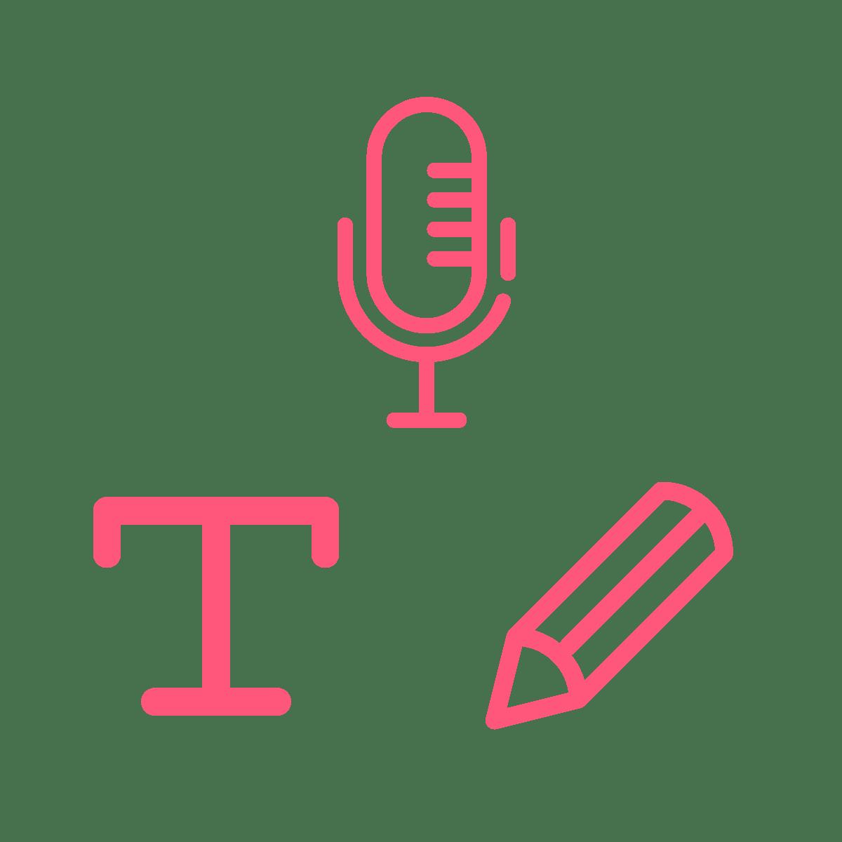 Type, Speak, Draw
