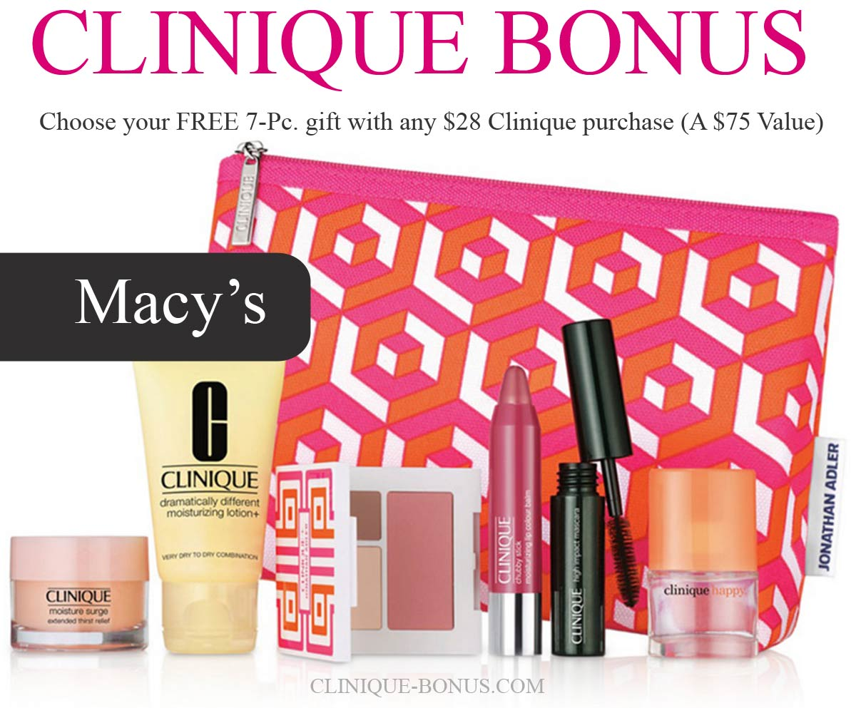 Macys Time Bonus Clinique 2017