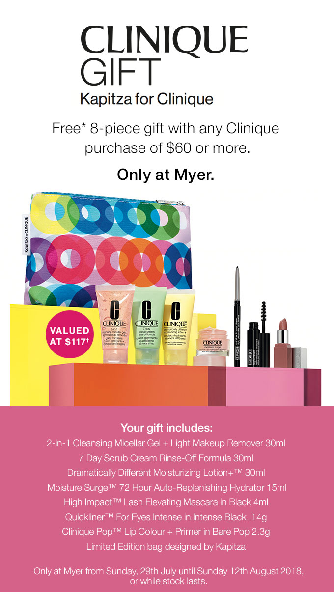 Myer Clinique Gift With Purchase 2019 Australia Richieku Co